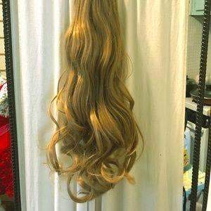 dark blond Ponytail hair Extension